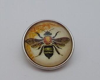 Glass Popper Snap Honey Bee Snap Jewelry