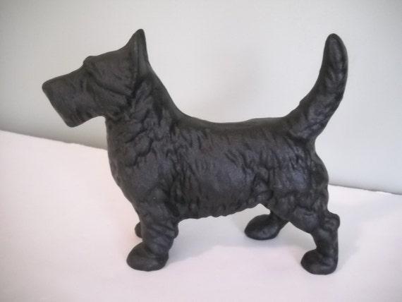 Cast iron scottie dog door stopper - Dog door blocker ...