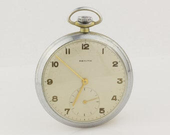 Antique Swiss Zenith Pocket Watch Excelent Working and Looking Condition
