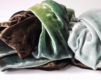 large shaded velour vintage scarf