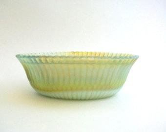 Boyd's Glass, Boyd's Dish, Boyd's Planter, Boyd's Soapdish, Boyd's Slag Glass, Slag Glass Planter, Green Slag Glass Green Slag Glass Planter
