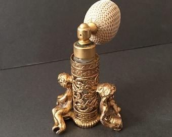 Vintage Perfume Holder Gold Gilt Baroque Look Atomiser