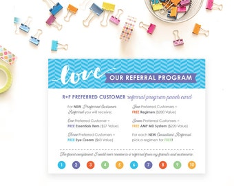 Rodan and Fields Referral Card, Digital File, DIY Print and Cut