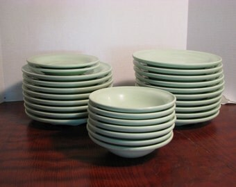 Mid-Century Russel Wright Seafoam MELADUR Dishes