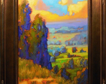 California Landscape.  oil painting By listed artist James Osorio. California Plein Air, Impressionism
