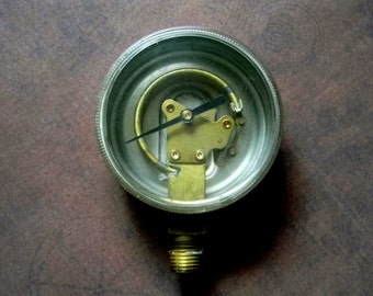 """Steampunk Parts - Vintage """"Skeleton"""" Pressure Gauge For Steampunk Crafters - Tested Working in Good Used Condition"""