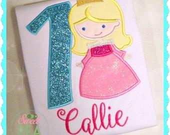 Girls Princess Birthday Shirt - Girls Embroidered Shirt - Princess Shirt -Sleepy Princess Shirt -Girls Birthday Shirt - Princess Party