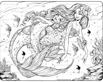 Unicorn Adult Coloring Pages Underwater Coloring Pages