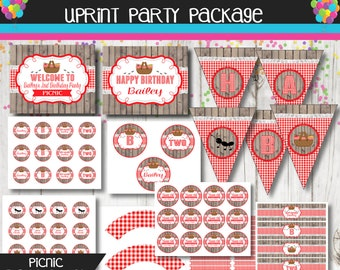 Picnic Party Package - Picnic Birthday Party  -