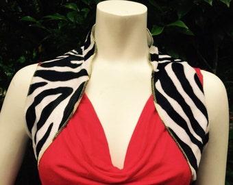 Velvet zebra bolero