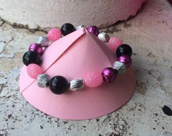 Handmade Bracelets, beaded bracelet, gifts for mom, bridesmaids gift, pink bracelet, beaded jewelry