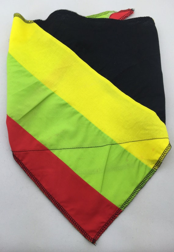 Higher Vibes 2: Red, Green and Yellow patchwork cotton bandana w/ Secret Pocket