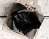 Black Hair Bow, Black Boutique Hair Bow, Black Bow, Black Hair Clip, Black Hairbow, Baby Hair Bow, Halloween Hair Bow, Toddler Bow