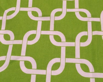 Premier Prints Lime Green and White Gotcha fabric by the half yard