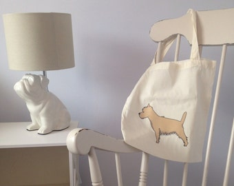 Cairn Terrier Cotton Tote Bag