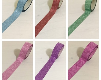 10M Glitter Tape (7 Colours to Choose From)
