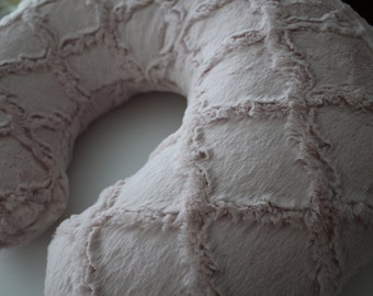 Rosewater Lattice Boppy Pillow Cover, Zipper Closure, Baby Girl, Baby Shower, Feeding, Nursing