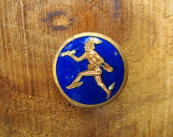 Vintage NS Meyers Insignia Pin - Cloisonne Mercury Pin