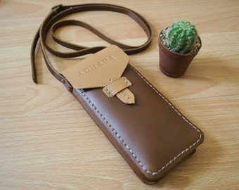 Phone Neck Pouch, Leather Phone Case, Custom Phone Case,Phone Pouch, Phone Bag, Neck Bag,Neck Pouch,Phone Purse,Cell Phone Case,Phone Sleeve