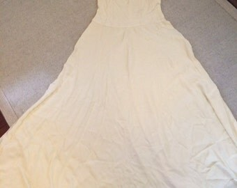 Original antique, vintage 1920s 1930s slip dress, wedding gown in silk crepe small