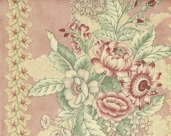 Moda Quilt Fabric - Blackbird Designs - Old Primrose Inn Series - Large Floral Apricot Blush Background - 2640-12 By The Yard