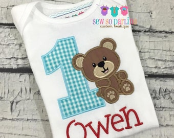 1st Birthday Bear Shirt - Teddy Bear Birthday Shirt - Baby Boy Bear Birthday Outfit - Teddy Bear Birthday Outfit - 2nd birthday shirt boy
