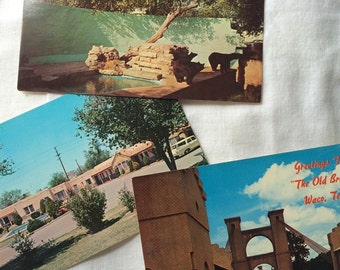 FREE SHIP Set of vintage texas post cards