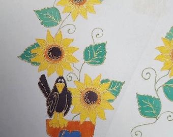 Glitzy Shirts 77153 Sunflower 'N' Pot Iron on Applique Kit