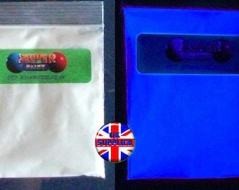 20g. Glow in the dark Blue pigment powder.