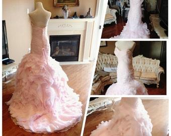 Gorgeous wedding dress, Wedding dress blush, Wedding dress mermaid
