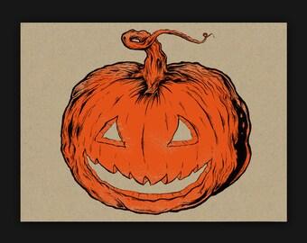9x12 Pumpkin Screen Print