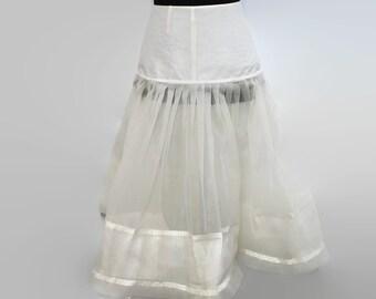 VIntage 1950s Wedding Dress Petticoat S / 50s White Petticoat Burlap / 50s Wedding Crinoline