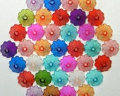 Acrylic bead end caps, jewelry findings, acrylic beads, fairy charms, angel charms, dollhouse miniature, miniature supplies, miniatures