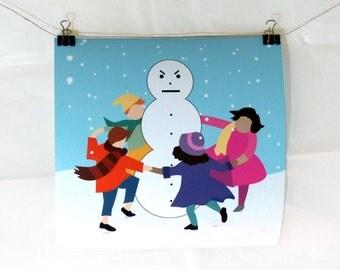 Jeezy Snowman Print