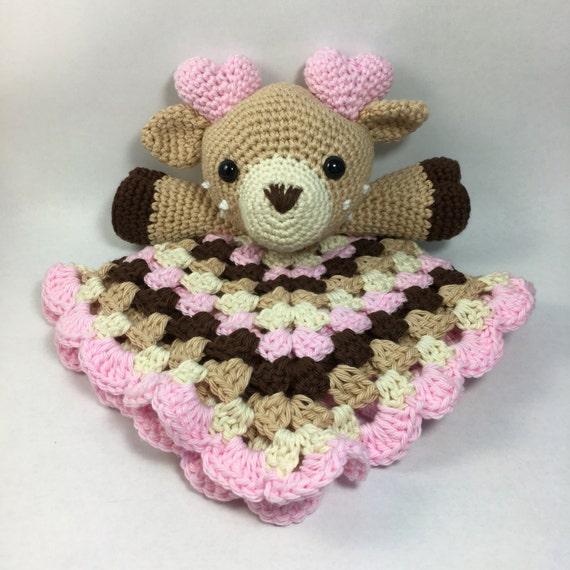 Amigurumi Baby Blanket : Crochet Deer Lovey Amigurumi Baby Shower Blanket by ...