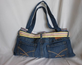 Purse/Tote Made From Recycled Pants And Boxers