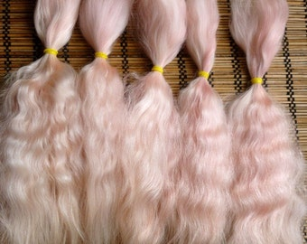 Combed mohair / 7-8.5 inches / Doll Hair / Combed mohair for doll hair/ Blythe Doll
