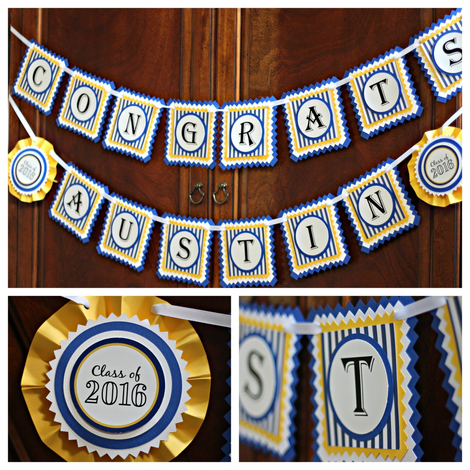 graduation party congrats banner  fully by