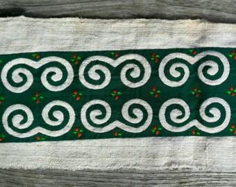 Hmong reverse applique on hemp fabric (H47)