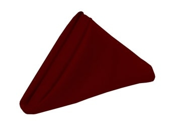 Burgundy Napkin for Weddings Pack of 10 | Wholesale Polyester Napkins, 20 x 20 inch Napkins