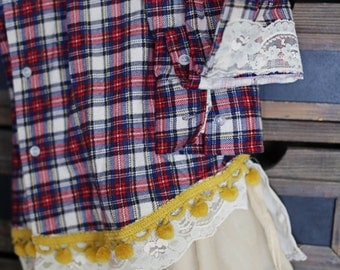 Upcycled Flannel Shirt- Size Large