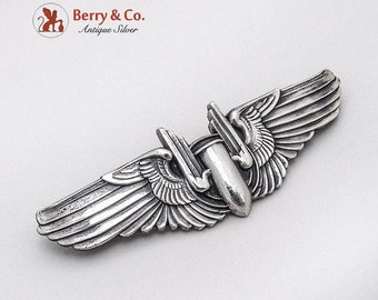 SaLe! sALe! WWII Army Air Force Aerial Gunner Pin Sterling Silver