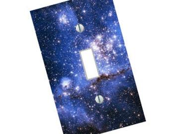 light switch plate, night sky, star sky, galaxy art, space art, star art, space decor, sky art, light switch, wall art, Home Decor, USA made