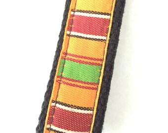 Fabric key fob, fabric keychain,wristlet key fob keychain,african fabric keychain,fabric keychain,keychain strap