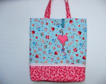 Bag, shopper, tote bag, bag hanger