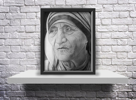 Mother Teresa Drawing - Print 8X10