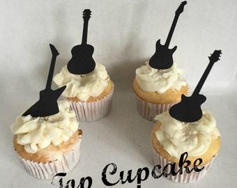 Guitar Cupcake Toppers -12