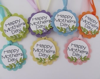 Mother's Day Gift Tags, Mother's Day Tags, Happy Mother's Day, Hang Tags, Pastel Tags, Happy Mother's Day Gift Tags, Flower Gift Tag, Spring
