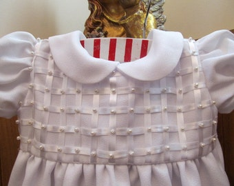 White Polyester Christening Gown (New)