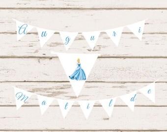 Cinderella Happy Birthday Banner